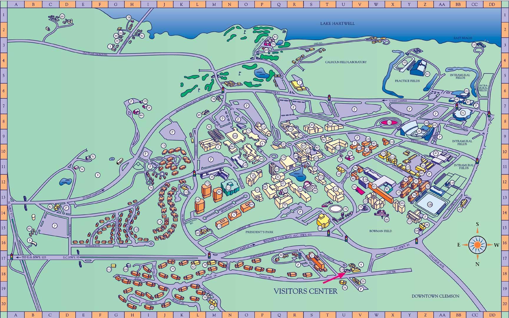 Clemson University Map World Wind Usgs 1m Ortho Visually Sc Botanical Garden 34 6737189 82 8214463 Not Used Practice Fields 6744904