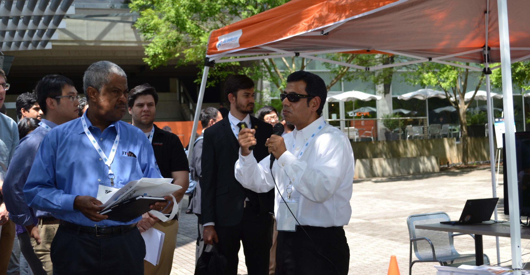 Dr. Chowdhury Demonstrating CV to Students