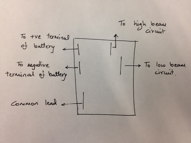 12v spdt relay  schematic of headlight switchin circuit