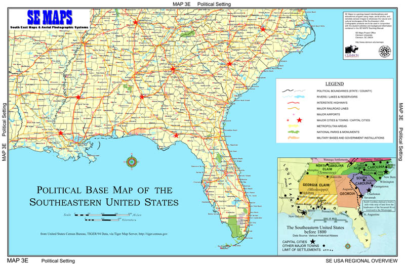 SE MAPS Regional Maps Home - Map of southeast us states