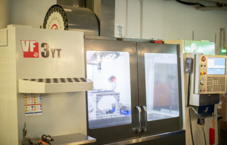 HAAS CNC machine - front view 1