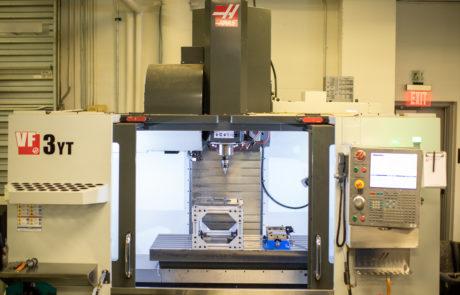 HAAS CNC machine - front view doors open