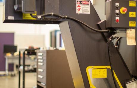 Chip separator used with the Okuma GENOSM560V