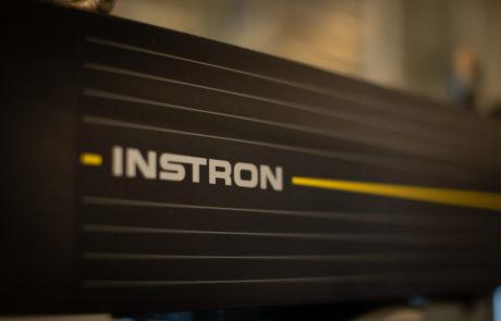 Close up image of Instron logo