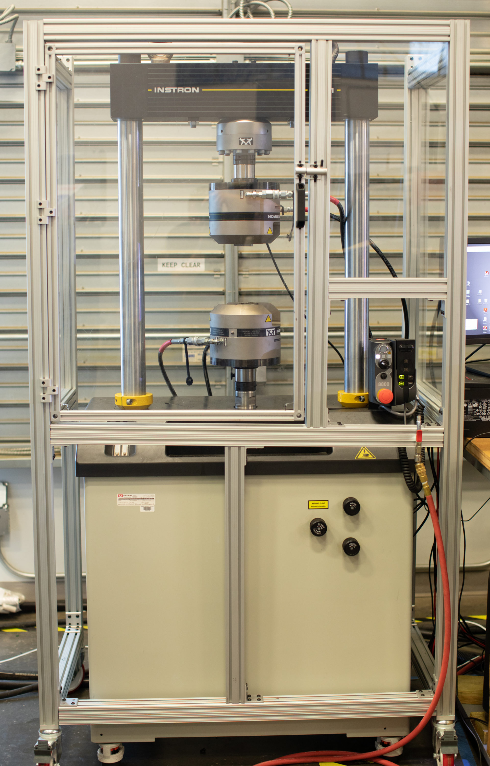 Tensile testing machine used in the Manufacturing Lab