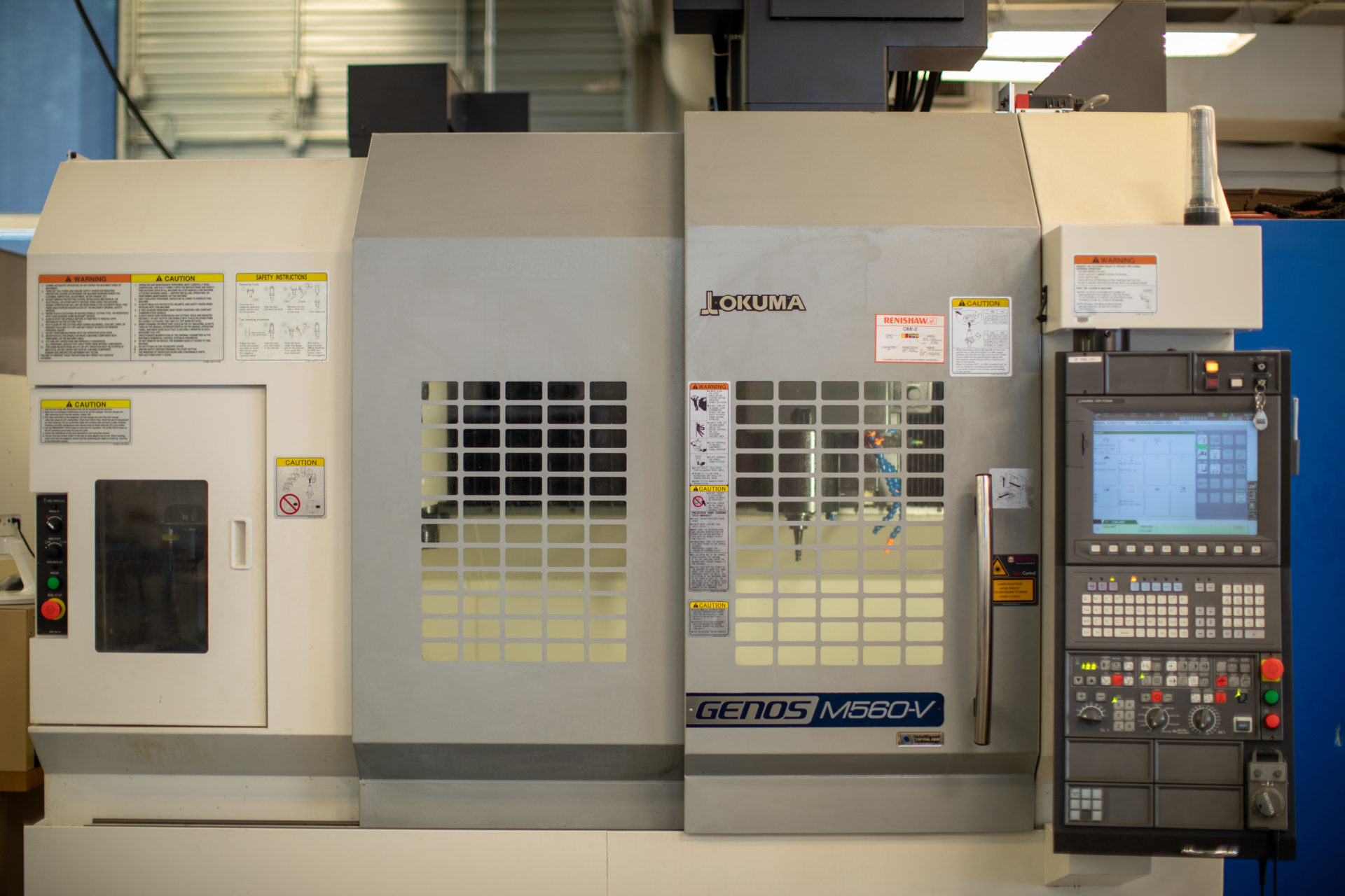 Okuma CNC mill used for machining research