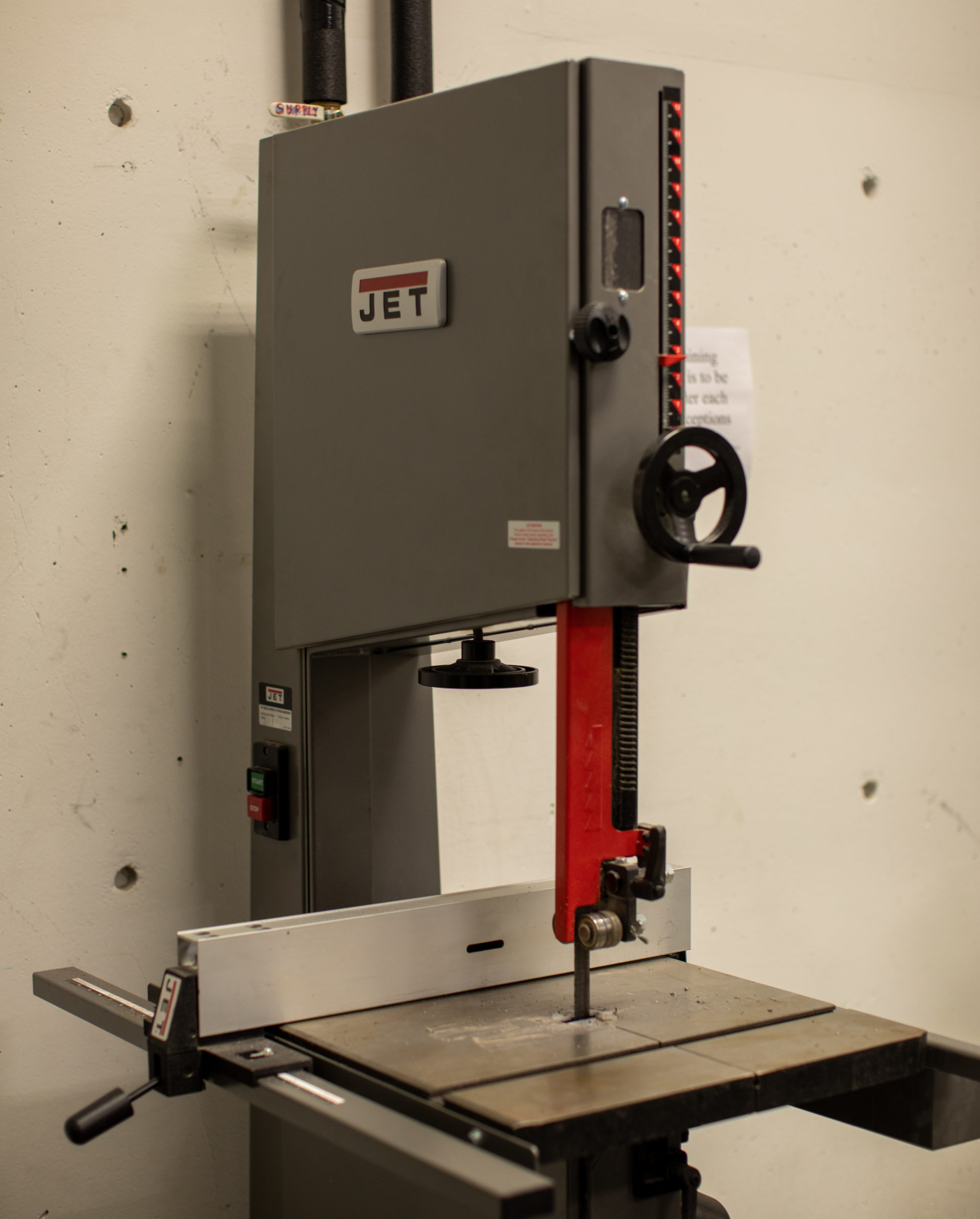 JET vertical band saw