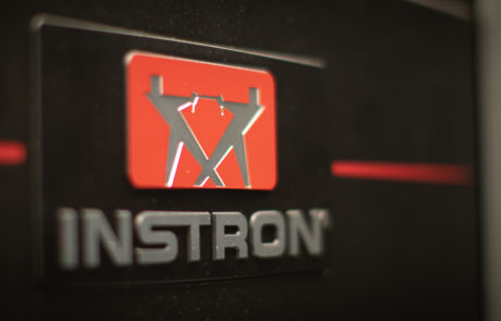 Close up view of Instron logo